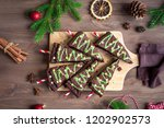 chocolate brownies in shape of... | Shutterstock . vector #1202902573