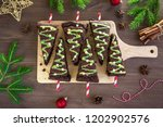 chocolate brownies in shape of... | Shutterstock . vector #1202902576