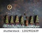 chocolate brownies in shape of... | Shutterstock . vector #1202902639