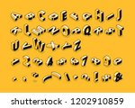 Isometric Letters Halftone Fon...