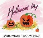 fun halloween pumpkin... | Shutterstock . vector #1202911960