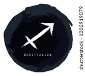 zodiac sign sagittarius with... | Shutterstock .eps vector #1202919079