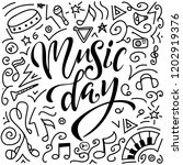music day lettering composition.... | Shutterstock .eps vector #1202919376