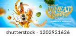 wheat beer banner ads with... | Shutterstock .eps vector #1202921626