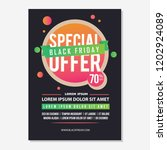poster design black friday with ...   Shutterstock .eps vector #1202924089