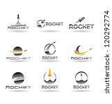 set of rockets. vector rocket.... | Shutterstock .eps vector #120292774
