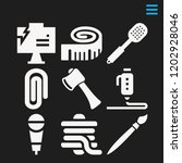 set of 9 tool filled icons such ...   Shutterstock .eps vector #1202928046
