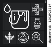 set of 6 collection outline... | Shutterstock .eps vector #1202928319