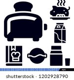 set of 6 food filled icons such ... | Shutterstock .eps vector #1202928790