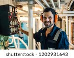 marine engineer officer in... | Shutterstock . vector #1202931643