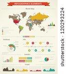 retro infographics set. world... | Shutterstock .eps vector #120293224