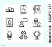 simple set of 9 icons related... | Shutterstock .eps vector #1202934139