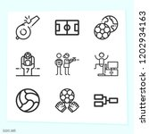 simple set of 9 icons related... | Shutterstock .eps vector #1202934163
