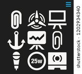 set of 9 tool filled icons such ...   Shutterstock .eps vector #1202934340
