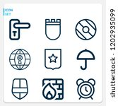 simple set of  9 outline icons... | Shutterstock .eps vector #1202935099