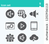 contains such icons as browser  ... | Shutterstock .eps vector #1202936113