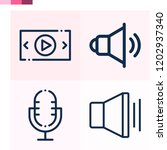 contains such icons as volume ... | Shutterstock .eps vector #1202937340