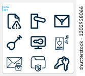 simple set of  9 outline icons... | Shutterstock .eps vector #1202938066