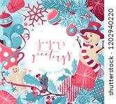 vector christmas background.... | Shutterstock .eps vector #1202940220