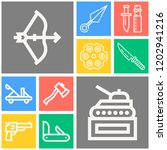 simple set of  10 outline icons ... | Shutterstock .eps vector #1202941216