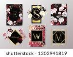 set of elegant brochure  card ... | Shutterstock .eps vector #1202941819