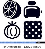 set of 4 food filled icons such ... | Shutterstock .eps vector #1202945509