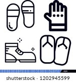 set of 4 fashion outline icons... | Shutterstock .eps vector #1202945599