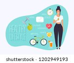 concept of healthy lifestyle... | Shutterstock .eps vector #1202949193