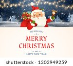 we wish you a merry christmas.... | Shutterstock .eps vector #1202949259