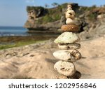 different sized sand stones... | Shutterstock . vector #1202956846