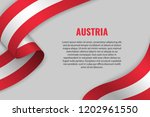 waving ribbon or banner with... | Shutterstock .eps vector #1202961550