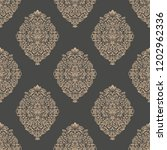 vector damask seamless pattern... | Shutterstock .eps vector #1202962336