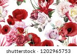 seamless floral pattern with... | Shutterstock . vector #1202965753