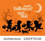happy halloween. children... | Shutterstock .eps vector #1202970130
