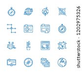 collection of 16 world outline... | Shutterstock .eps vector #1202975326