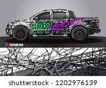 pickup truck decal designs ... | Shutterstock .eps vector #1202976139