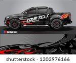 pickup truck decal designs ... | Shutterstock .eps vector #1202976166