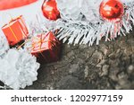 christmas decoration with red... | Shutterstock . vector #1202977159