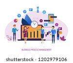 business process management.... | Shutterstock .eps vector #1202979106