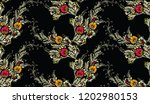seamless textile floral pattern | Shutterstock .eps vector #1202980153
