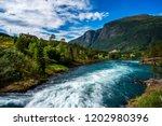 beautiful nature norway natural ... | Shutterstock . vector #1202980396