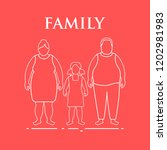 family. mom  dad and daughter.... | Shutterstock .eps vector #1202981983