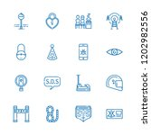 collection of 16 safety outline ... | Shutterstock .eps vector #1202982556