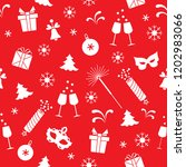 seamless pattern with new year... | Shutterstock .eps vector #1202983066