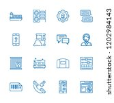 collection of 16 service... | Shutterstock .eps vector #1202984143