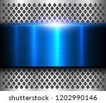 metallic background silver blue ... | Shutterstock .eps vector #1202990146