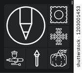 set of 6 art outline icons such ... | Shutterstock .eps vector #1203001453
