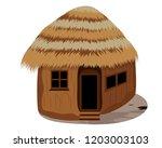 straw hut vector design | Shutterstock .eps vector #1203003103