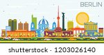 berlin germany city skyline... | Shutterstock . vector #1203026140