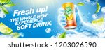 refreshing soft drink banner... | Shutterstock .eps vector #1203026590